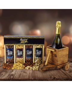 Hanukkah Nut and Champagne Cart