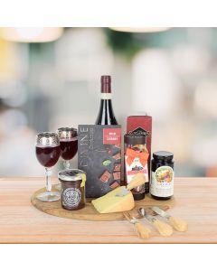 Cheese & Chutney Wine Gift Basket