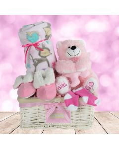 A Basket for a Baby Girl