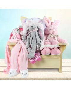 Snuggle Bug Baby Girl Gift Basket