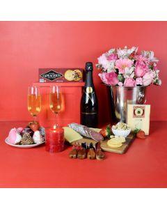 Champagne & Strawberries Gift Basket
