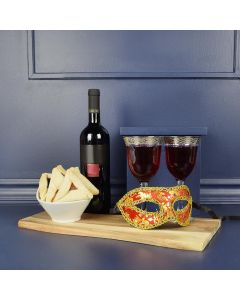 Purim Cookies & Wine Gift Set