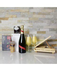 Chocolate Cherries & Cookies Champagne Gift Basket