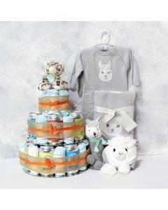 Unisex Elegant Baby Diaper Set