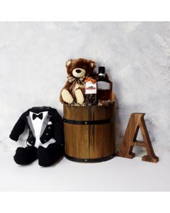 TUX FOR THE BABY BOY GIFT BASKET