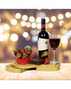 Wine, Cheese Fudge & Chocolate Dipped Strawberries