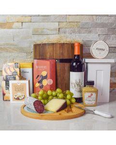 Delicious Gourmet Wine & Snack Barrel
