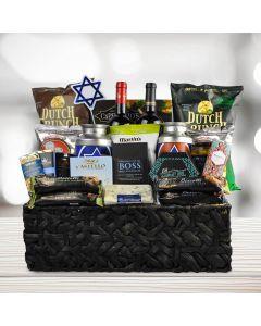 "The ""Happy Hanukkah"" Wine Gift Basket"