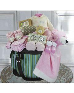 Baby Girl Deluxe Diaper Bag