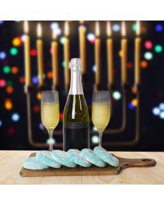 Hanukkah Cookies & Champagne Basket