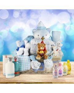 Super Luxurious Baby Boy Gift Basket
