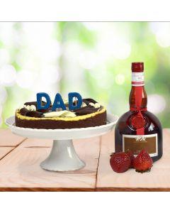 A Cheesecake for Dad Liquor Basket