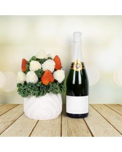 Trendy Chocolate Dipped Strawberries with Champagne