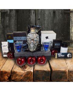 Crystal Skull Vodka Gift Basket