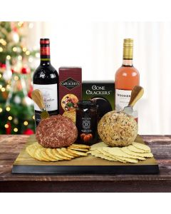 The Cheeseballs & Two Wines Gift Set