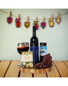 Kosher Wine & Cheese Basket