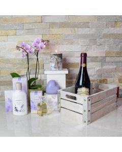 Mom's Wine & Spa Gift Basket