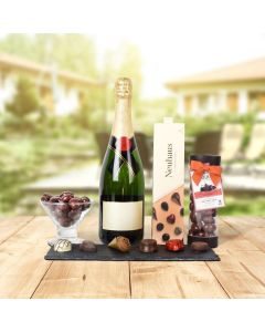 TRAVERSE CITY CHAMPAGNE & CHOCOLATE GIFT BASKET