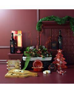Gourmet Gifting Christmas Wine Gift Basket