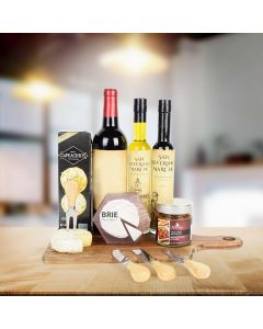 Cheesy Cravings Wine Gift Basket