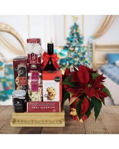 Yuletide Liquor & Snacking Gift Basket