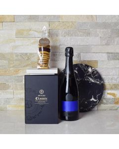 The Artisanal Cookies & Champagne Gift Basket