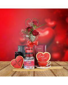 Romantic Morning Valentine's Day Gift Basket