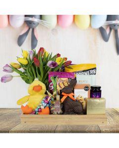 Easter Bouquet & Snacks Basket