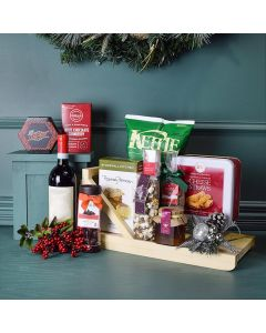Holiday Sleigh Wine & Treats Gift Basket