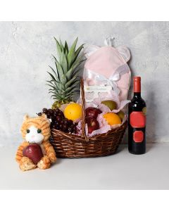 Fierce Princess Gift Basket with Wine