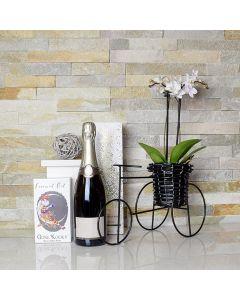 Spring Blossoms Champagne Gift Basket