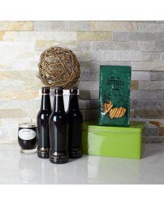 St. Patrick's Day Beer & Pretzels Gift Basket