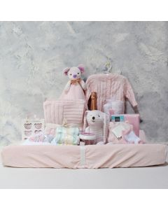 BABY GIRL LUXURY COMFORT SET WITH CHAMPAGNE