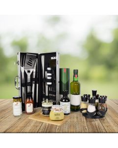 World's Best Barbequing Gift Basket with Liquor