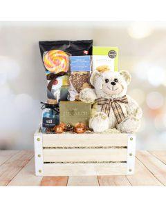 Cute Bear & Snack Gift Crate
