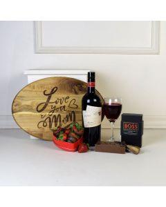 """Love You Mom"" Wine Gift Set"