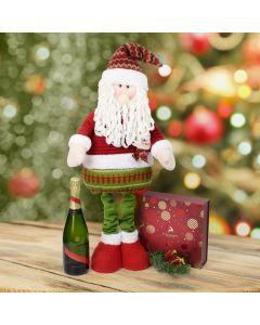 Christmas Chocolate & Tall Santa Set with Champagne