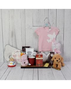 Birth of a Baby Girl Gift Basket