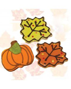 Seasonal Shaped Fall Cookies