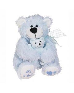 Blue Huggy- A Bear Hugging a Baby Bear