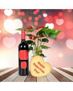 Happy Valentine's Wine Gift Basket
