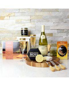 Smoked Salmon, Cheese & Wine Gift Set
