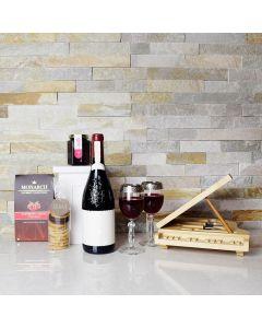 Raspberry & Gourmet Cookies Wine Gift Basket