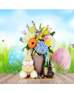 Easter Flowers & Champagne Basket