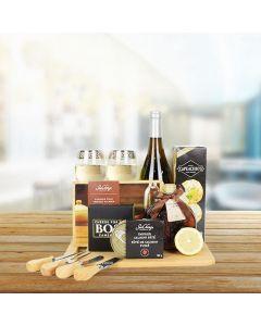 Deluxe Wild Salmon & Wine Gift Basket