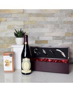 Royal Mahogany Wood Wine Basket