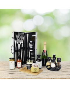 World's Best Barbequing Gift Basket, with Champagne
