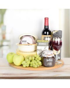 Fruit & Cheese with Wine Gift Set
