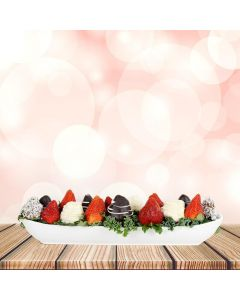 Deluxe Chocolate Dipped Strawberry Boat