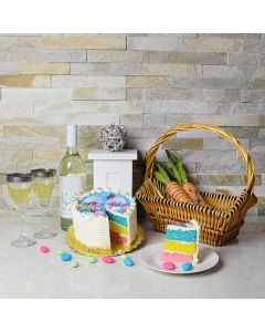 Easter Cake & Wine Gift Basket